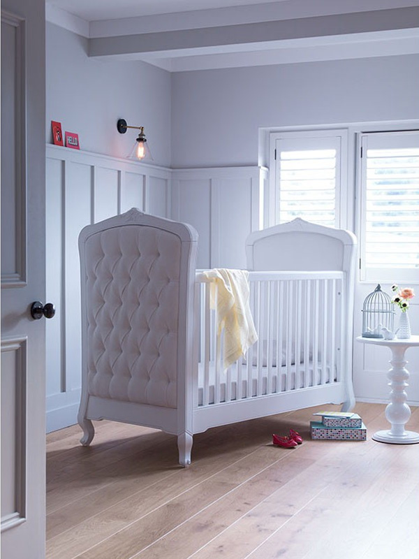 Lilies & Lions Florentine Cot Bed - White