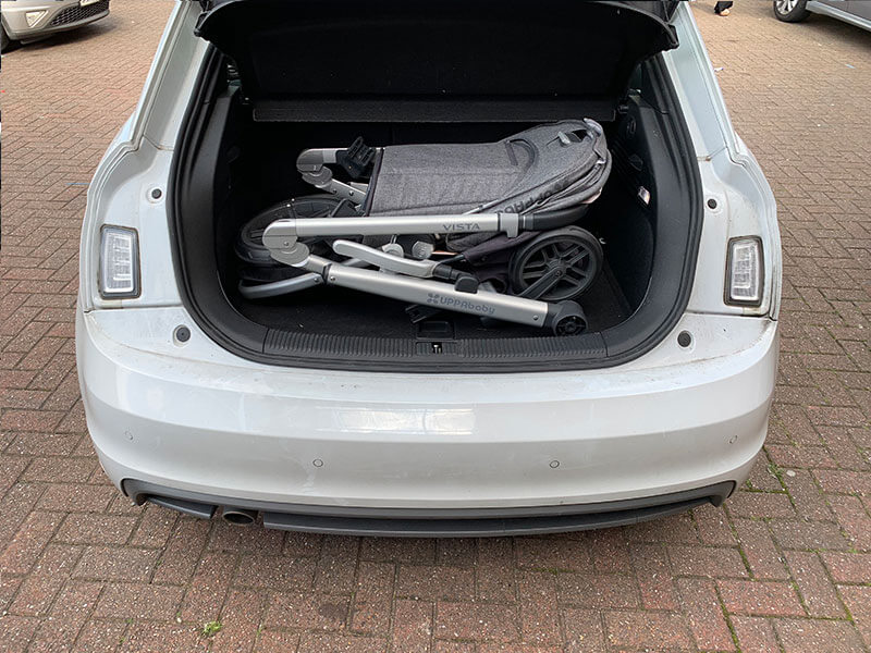 Audi A1 Pushchair Fitting - Uppababy Vista